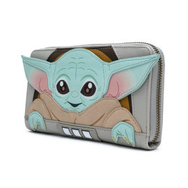 "Loungefly Wallet - Star Wars The Mandalorian - The Child ""Baby Yoda"" in his Carier"