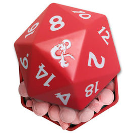 Boston America Corp Candy - Dungeons & Dragons - 20 Sided Dice with Ampersand Logo +1 Cherry Potion Metal Tin