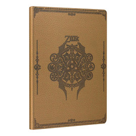 Paladone Note Book - The Legend of Zelda - Hyrule Crest and Spirituat Stones Beige Faux Leather