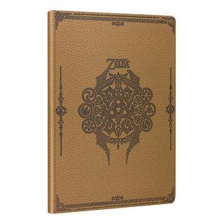 Paladone Carnet de Notes - The Legend of Zelda - Emblème d'Hyrule et Pierres Spirituelles en Faux Cuir Beige