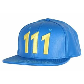 Bioworld Baseball Cap - Fallout - Vault 111 Faux Leather Blue Snapback