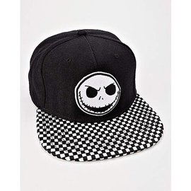 Bioworld Baseball Cap - Disney The Nightmare Before Christmas - Jack Skellington Checkered Lid Black and White Snapback
