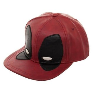 Bioworld Casquette - Marvel Deadpool - Masque Faux Cuir Rouge Snapback
