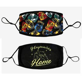 Bioworld Masque - Harry Potter - Emblème des Maisons Hogwarts is my Home Couvre-Visage Paquet de 2 *Liquidation*