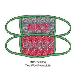 Bioworld Face Mask - Ugly Stuff Supply - Nice or Naughty Sequin Face Cover Pack of 2