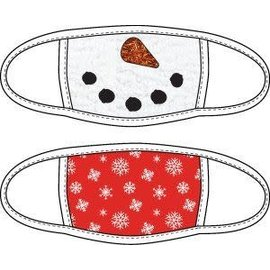 Bioworld Face Mask - Ugly Stuff Supply - Snowman and Snowflakes Face Cover Pack of 2