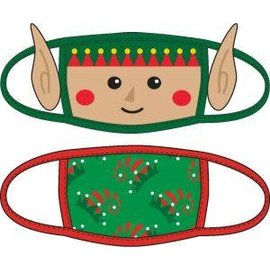 Bioworld Face Mask - Ugly Stuff Supply - Elf and Hats Face Cover Pack of 2