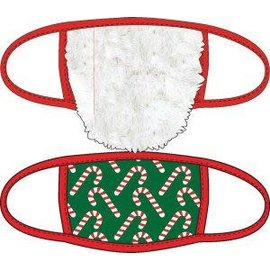 Bioworld Face Mask - Ugly Stuff Supply - Santa's Beard and Candy Canes Face Cover Pack of 2