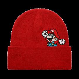 Bioworld Tuque - Nintendo Super Mario - Mario qui Saute Brodée Rouge