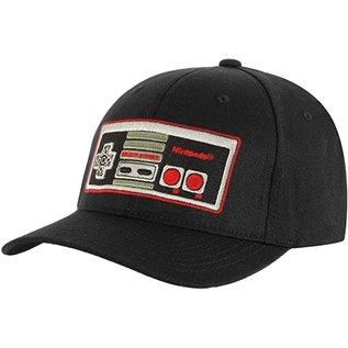 Bioworld Casquette - Nintendo - Manette de NES Brodée Noire Flex