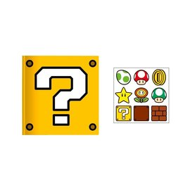 Bioworld Carnet de Notes - Nintendo Super Mario Bros. - Question Block avec Autocollants