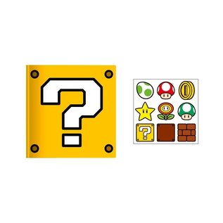 Bioworld Carnet de Notes - Nintendo Super Mario Bros. - Question Block avec Autocollants
