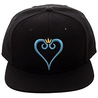 Bioworld Casquette - Kingdom Hearts - Logo en Coeur Bleu avec Couronne