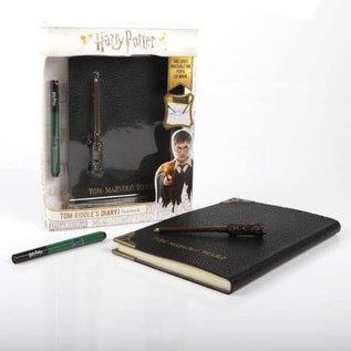 Wow! Stuff Collectionnable - Harry Potter - Réplique du Journal de Tom Marvolo Riddle avec Encre Invisible et Baguette