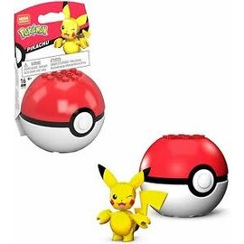 MEGA Brand Figurine - Pokémon - Mega Construx Pikachu avec Poké Ball 1ère Génération