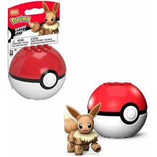 MEGA Brand Figurine - Pokémon - Mega Construx Eevee avec Poké Ball 1ère Génération