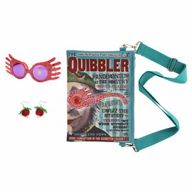 Elope Costume - Harry Potter - Luna Lovegood's Quibbler Magazine Purse, Spectrespecs Glasses and Radish Earrings