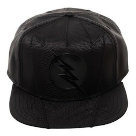 Bioworld Casquette - DC Comics The Flash - Logo Noire en Faux Cuir Snapback