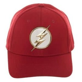 Bioworld Casquette - DC Comics The Flash - Logo Blanc et Or Rouge
