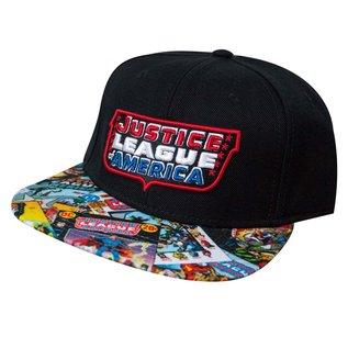 Bioworld Casquette - DC Comics Justice League of America - Logo et Couvertures de Comics Noire Snapback