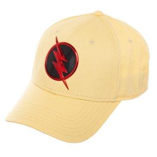 Bioworld Casquette - DC Comics The Flash - Reverse Flash Beige Avec Logo Noir et Rouge