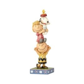 """Enesco Collectible - Peanuts - Charlie Brown, Snoopy and Sally """"You lift me up"""" by Jim Shore"""
