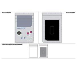 Bioworld Porte-Cartes - Nintendo - Game Boy Gris en Faux Cuir