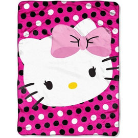 Northwest Company Couverture - Sanrio - Hello Kitty Rose Jeté en Peluche