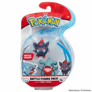 Wicked Cool Toys Figurine - Pokémon - Battle Figure Pack Gible et Zorua