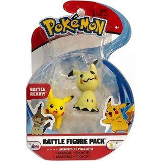 Wicked Cool Toys Figurine - Pokémon - Battle Figure Pack Mimikyu et Pikachu