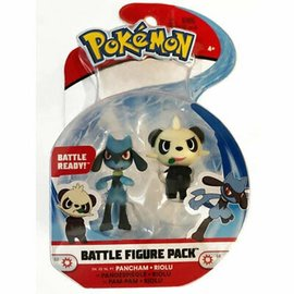 Wicked Cool Toys Figurine - Pokémon - Battle Figure Pack Pancham et Riolu