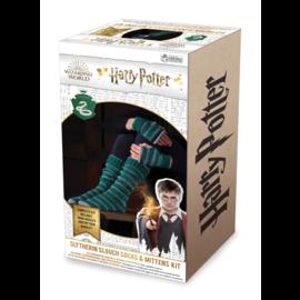 Hero Collector Chaussettes - Harry Potter - Ensemble pour Tricoter Bas Longs et Mitaines de Serpentard