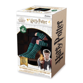 Hero Collector Socks - Harry Potter - Knitting Kit for Slytherin House Slouch Socks and Mittens