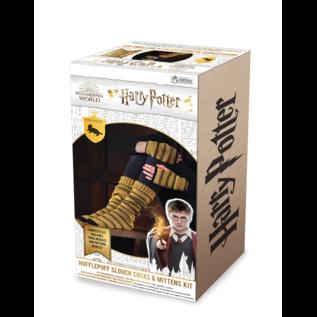 Hero Collector Chaussettes - Harry Potter - Ensemble pour Tricoter Bas Longs et Mitaines de Poufsouffle