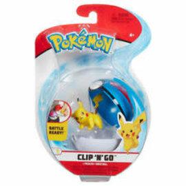 Wicked Cool Toys Figurine - Pokémon - Accessoire pour ceinture Clip 'n' go Pikachu et Great Ball