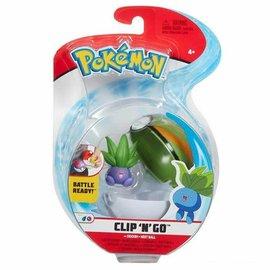Wicked Cool Toys Figurine - Pokémon - Accessoire pour ceinture Clip 'n' go Oddish et Nest Ball