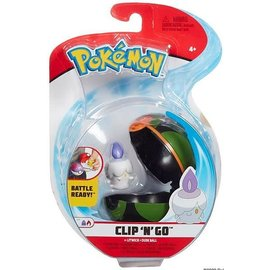 Wicked Cool Toys Figurine - Pokémon - Accessoire pour ceinture Clip 'n' go Litwick et Dusk Ball