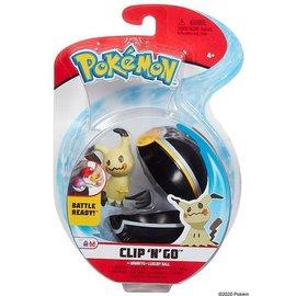 Wicked Cool Toys Figurine - Pokémon - Accessoire pour ceinture Clip 'n' go Mimikyu et Luxury Ball