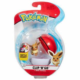 Wicked Cool Toys Figurine - Pokémon - Accessoire pour ceinture Clip 'n' go Eevee et Poké Ball