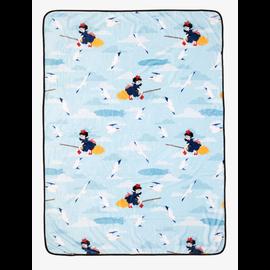 Her Universe Blanket - Studio Ghibli Kiki's Delivery Service - Kiki and Jiji Flying Turquoise Fleece Throw