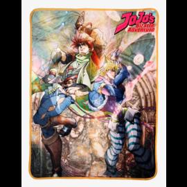 Bioworld Blanket - JoJo's Bizarre Adventure - Battle Tendency Joseph Joestar & Caesar A. Zeppeli Fleece Throw