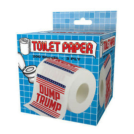 "Joseph Entreprises Bathroom Products - Humour - ""Dump Trump"" President Donald Trump Toilet Paper"