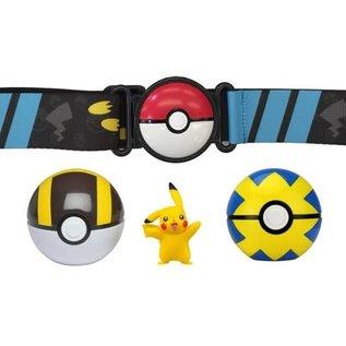 Wicked Cool Toys Figurine - Pokémon - Ensemble pour ceinture Clip 'n' go Pikachu, Ultra Ball et Quick Ball