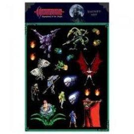 Dark Horse Magnet - Castlevania Symphony of the Night - Magnet Set 16-bit
