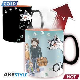 AbysSTyle Tasse - Chi's Sweet Home - Chi et Poisson Réactive à la Chaleur 16oz