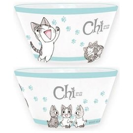 AbysSTyle Bowl - Chi's Sweet Home - Chi with Pawprints Turquoises