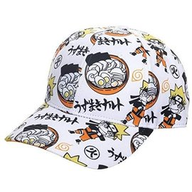 """Bioworld Baseball Cap - Naruto Shippuden - Ramen """"Uzumaki Naruto"""" White and Orange"""