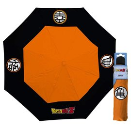 AbysSTyle Parapluie - Dragon Ball Z - Symboles des Uniformes de Goku, King Kai et Tortue Géniale Orange