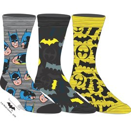 Bioworld Chaussettes - Dc Comics Batman - Batmobile Paquet de 3 Paires Crew