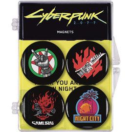Dark Horse Magnet - Cyberpunk 2077 - Logos Round Set of 4